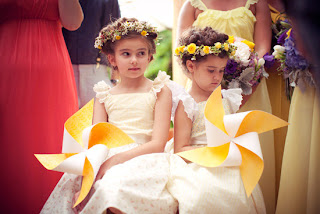 flower girl pinwheel bouquets