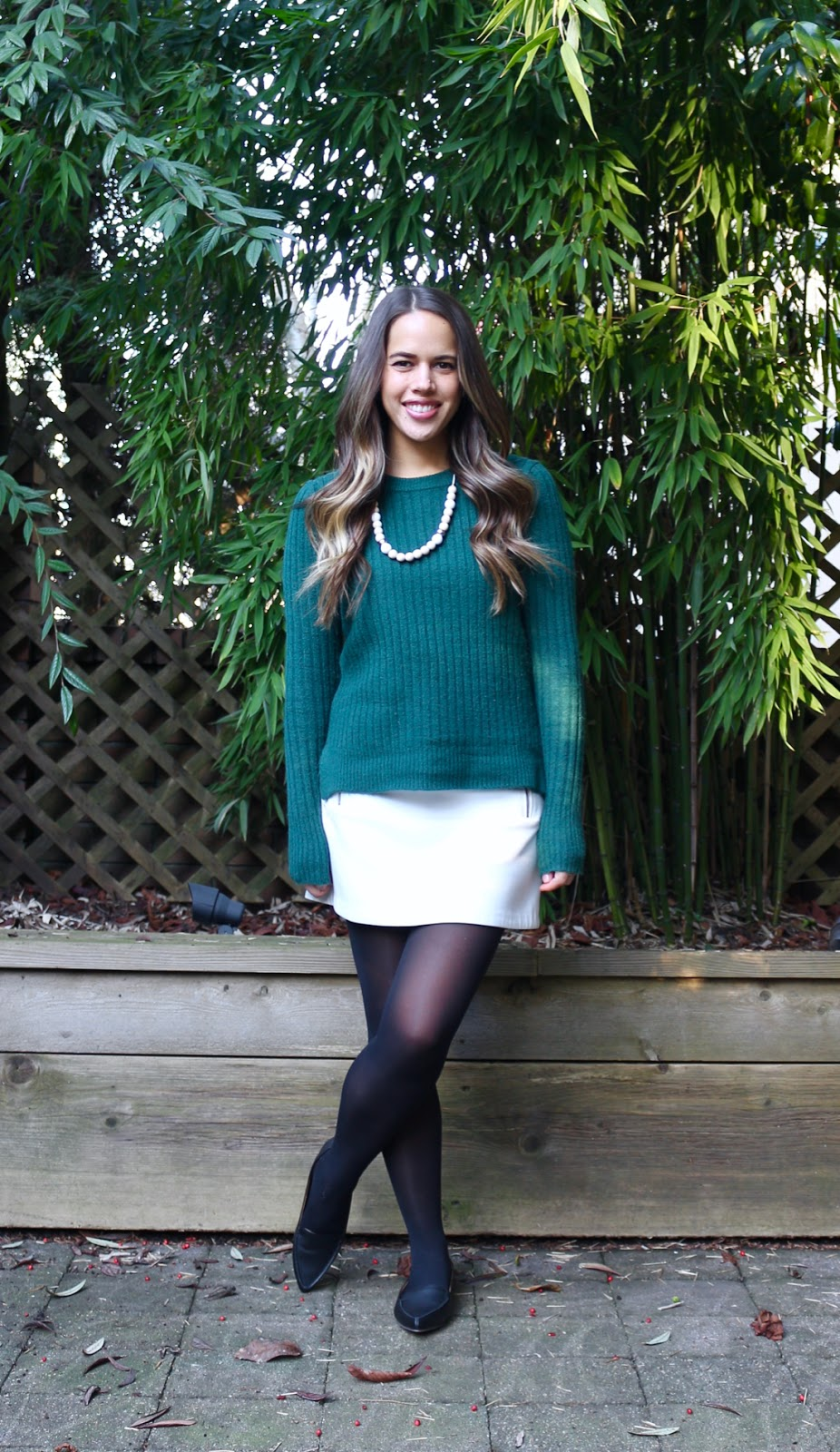 Jules in Flats - Wearing a Dress as a Skirt (Business Casual Winter Workwear on a Budget)