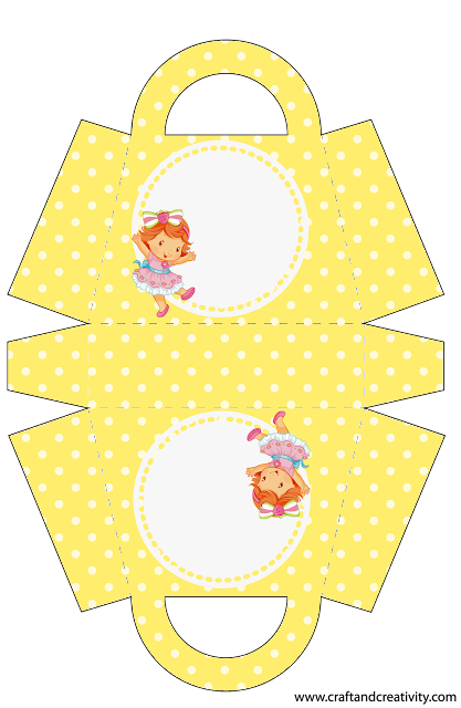 Strawberry Shortcake Baby: Free Printable Paper Purse or Bag