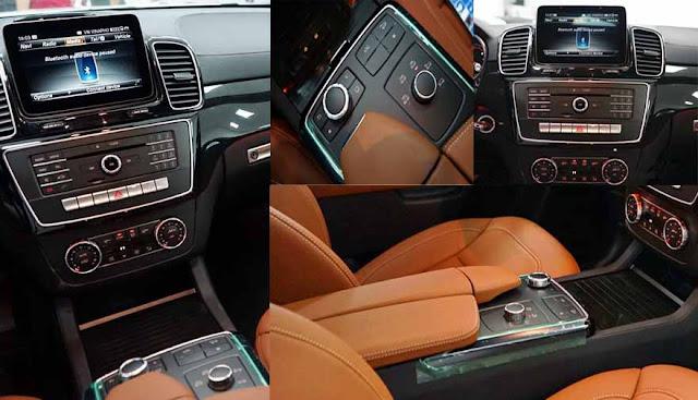 Tựa tay Mercedes GLS 350d 4MATIC 2017 được thiết kế nổi bật với rất nhiều tiện ích