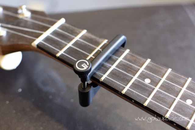 G7th UltraLight Ukulele Capo on neck