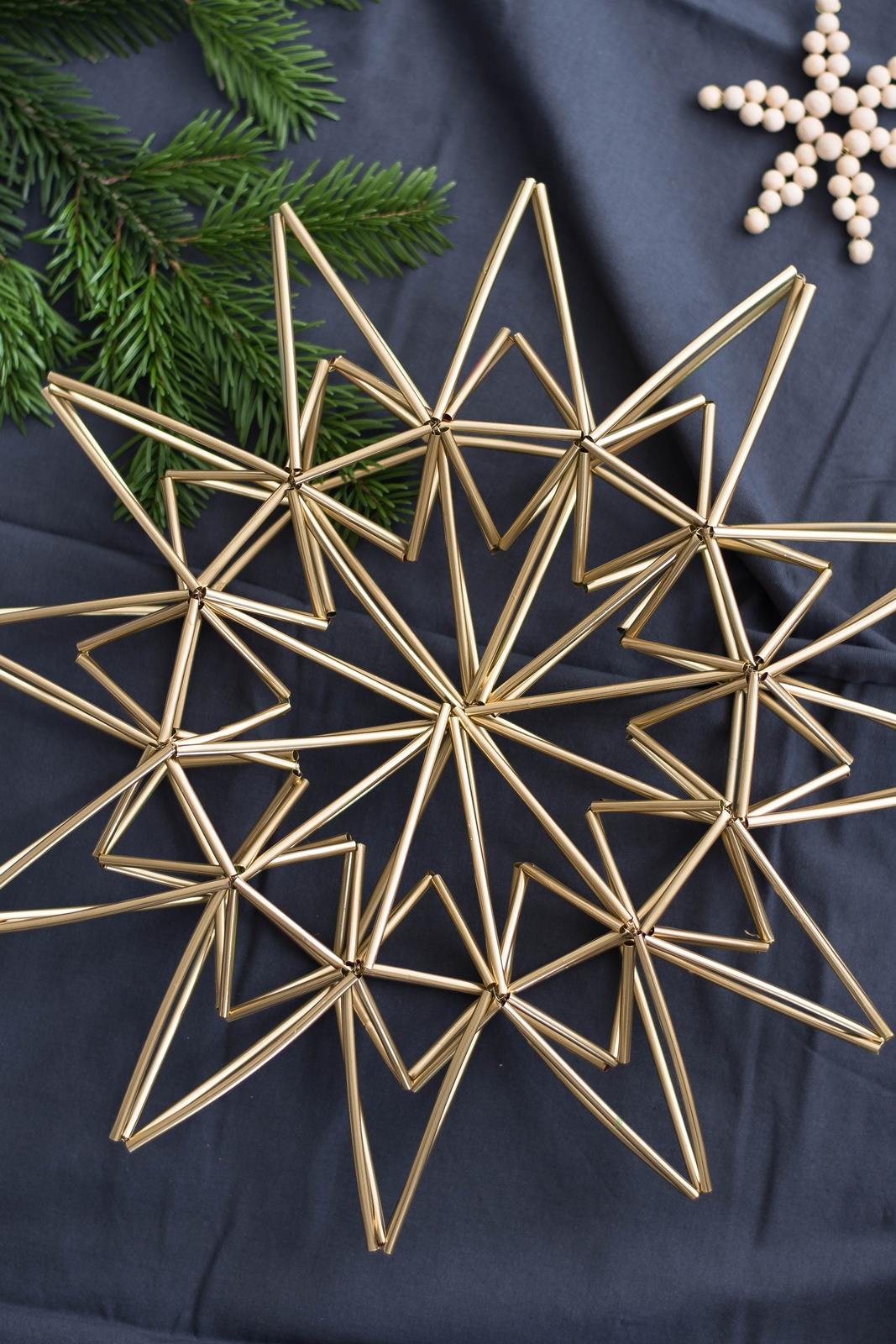 diy weihnachtsstern aus trinkhalmen sinnenrausch der kreative diy blog f r wohnsinnige und. Black Bedroom Furniture Sets. Home Design Ideas
