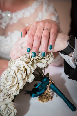 two hands wearing wedding rings