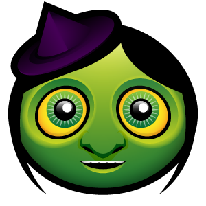 Halloween Witch Emoticon