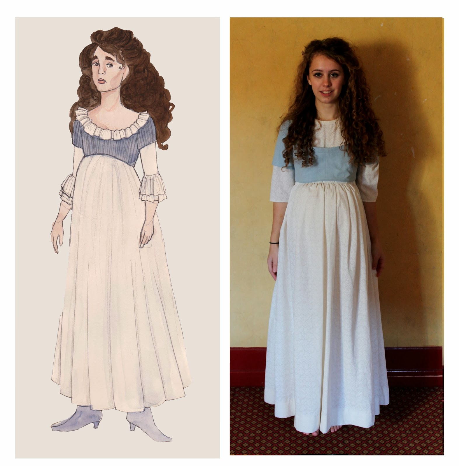 rachael fraser wuthering heights cathy s dresses  passed since heathcliffe left wuthering heights so the dresses are starting to lean towards the later styles of higher waists