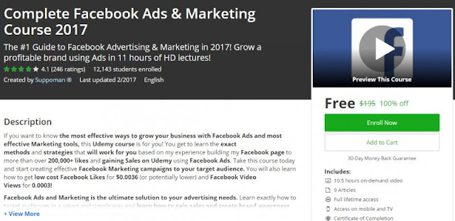 [100% Off] Complete Facebook Ads & Marketing Course 2017 ...