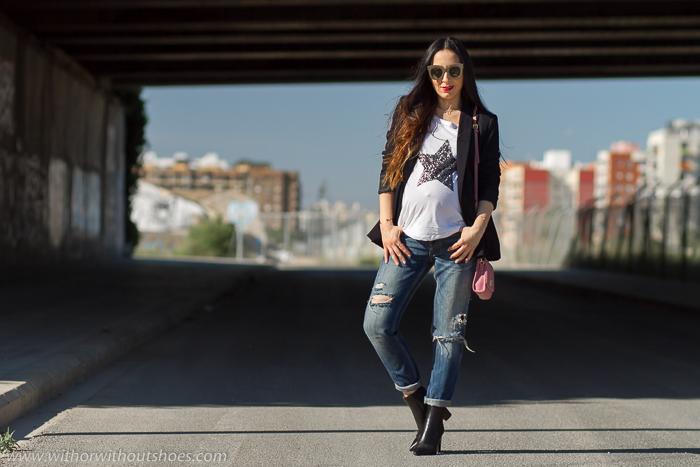 Blogger embarazada con ideas para vestir sin gastar dinero