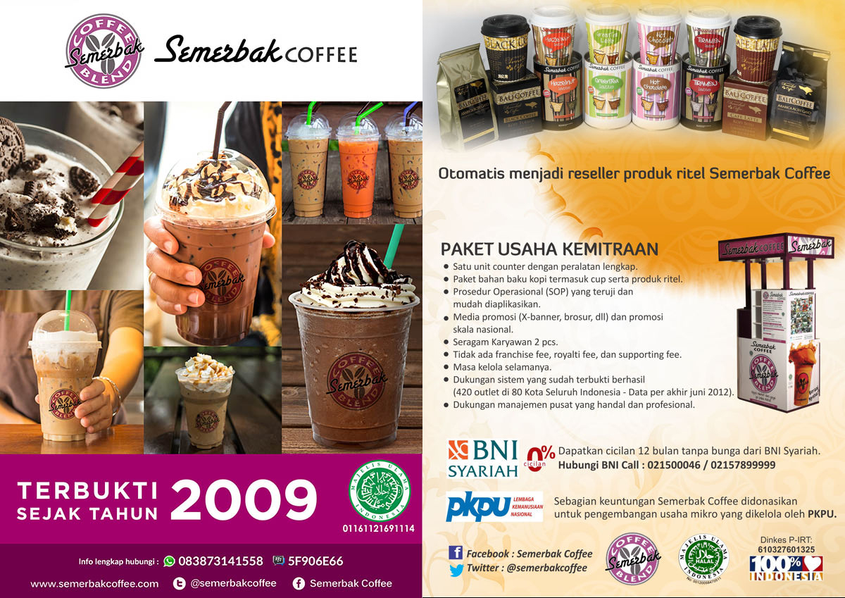 Peluang Usaha Semerbak Coffee Franchise Murah | Daftar ...