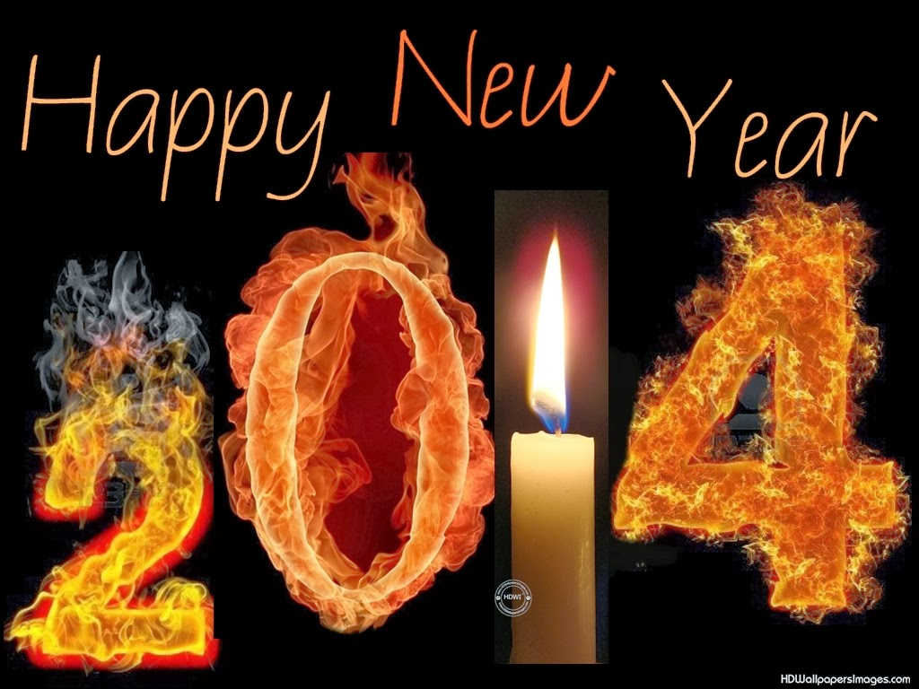 2014 Happy New Year Greeting Card With Fire Effects.5 New Year Greeting Cards Samples 2014