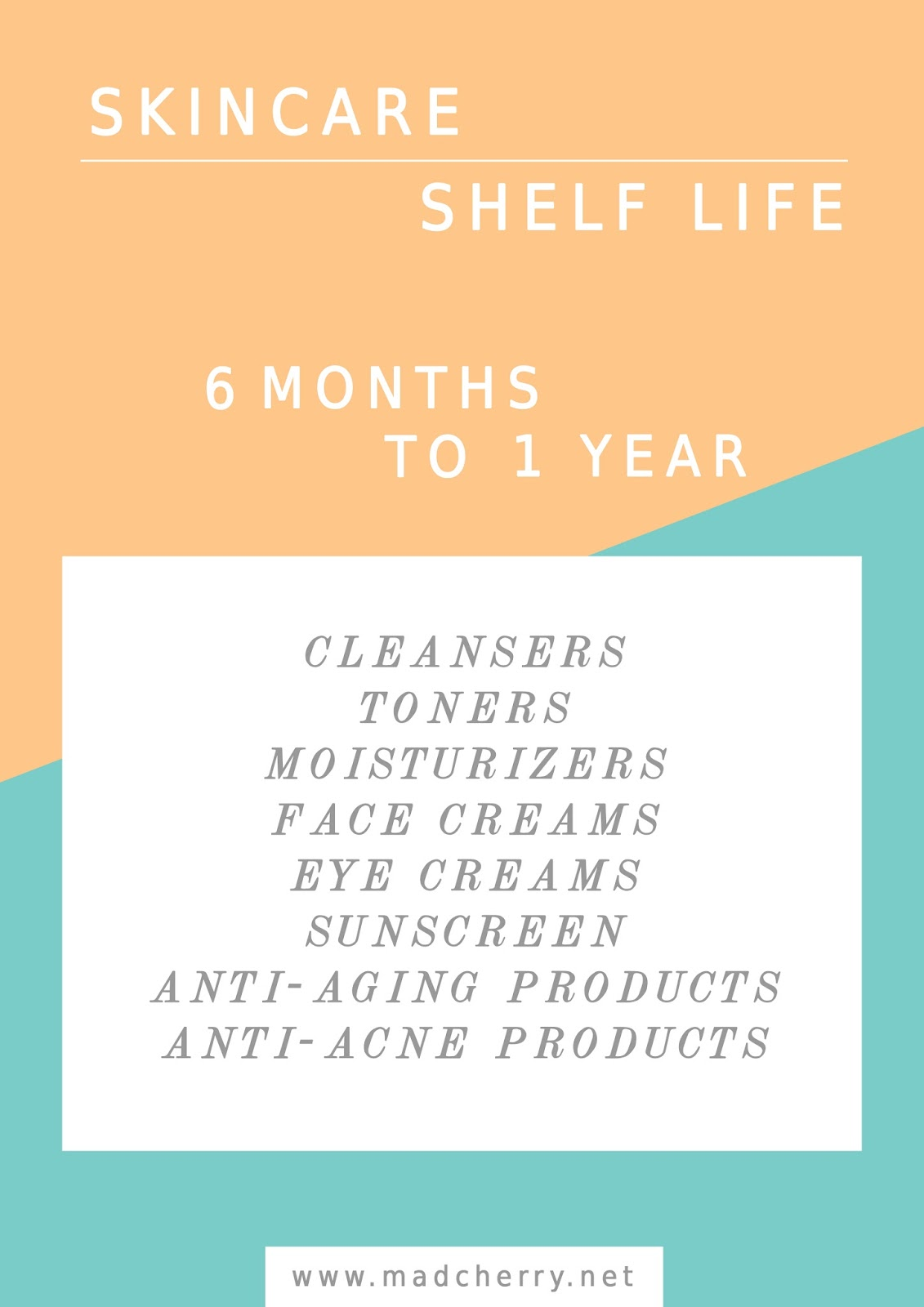 All good things come to an end... even the efficacy of beauty products. So you have to know when to throw them away and when to take advantage of them.