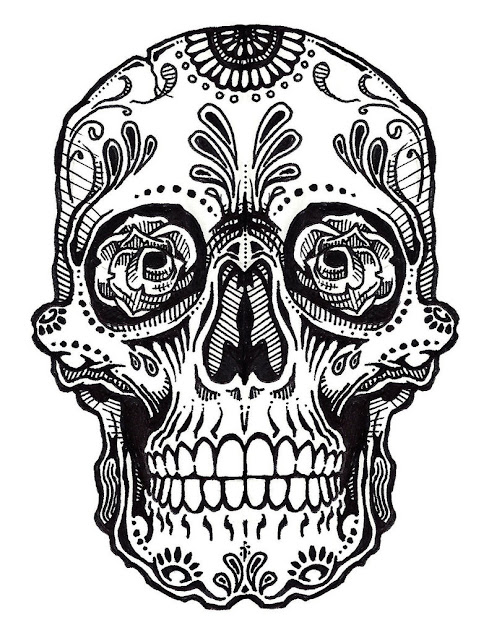 Skull Tattoo Line Art  Jos Gandos Coloring Pages For Kids  Clipart Best   Clipart