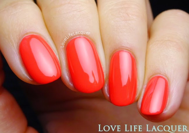 Sophin 338 Summer coral nail polish swatch