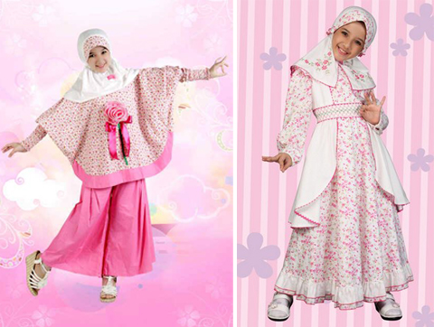 pakaian muslim anak perempuan