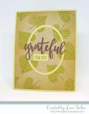 Grateful for You card-designed by Lori Tecler/Inking Aloud-stamps from Concord & 9th