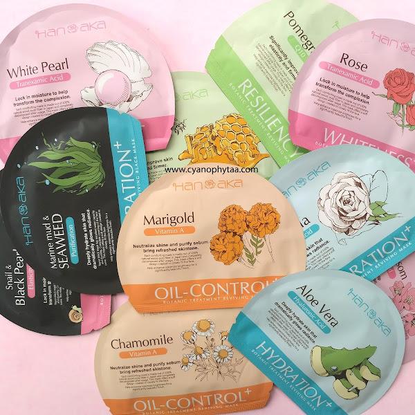 Review Hanaka Botanic Treatment Reviving Mask