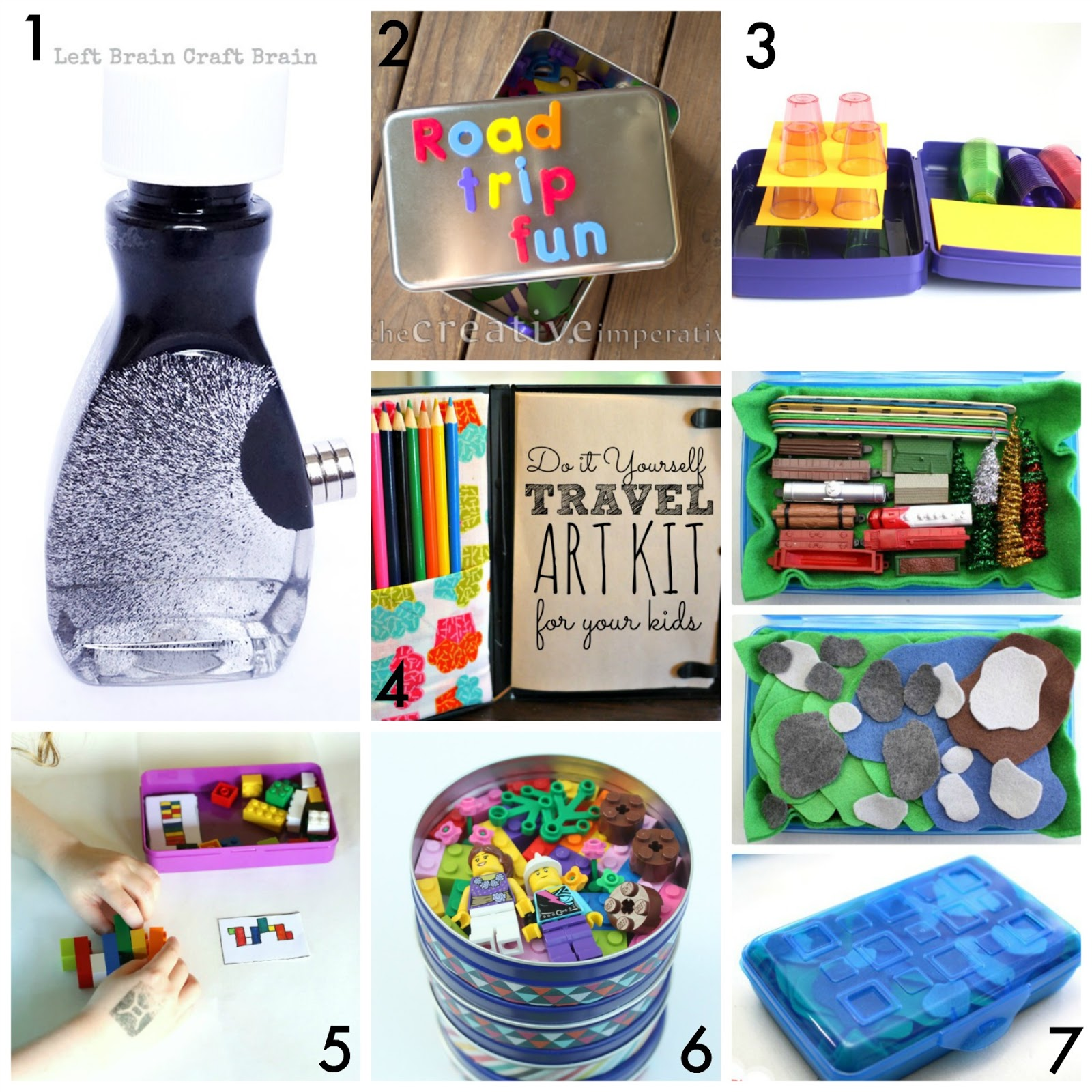 30 DIY Portable Travel Kits for Entertaining Kids on the go