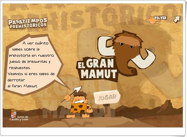 """El Gran Mamut"" (Juego de Prehistoria)"