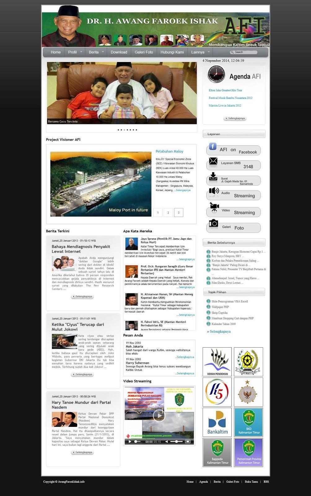 Home Page Template lokomedia premium untuk pejabat