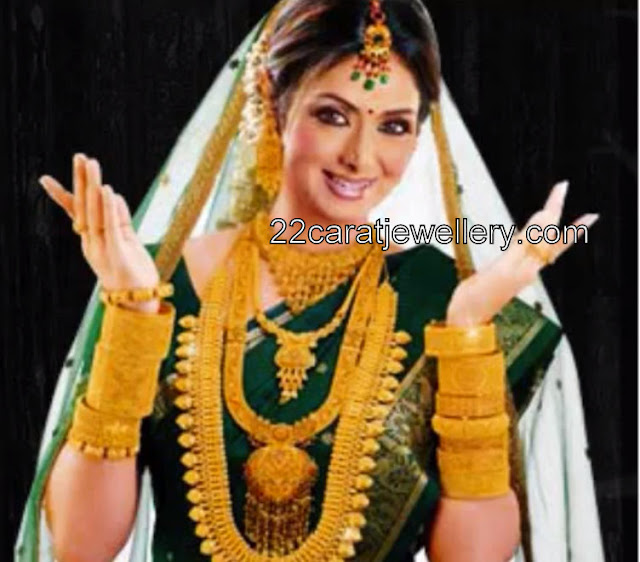 Sridevi Bonikapoor In South Indian Traditional Jewelry