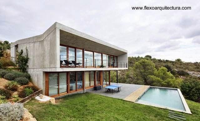 Residencia contemporánea de concreto casa de campo 2006