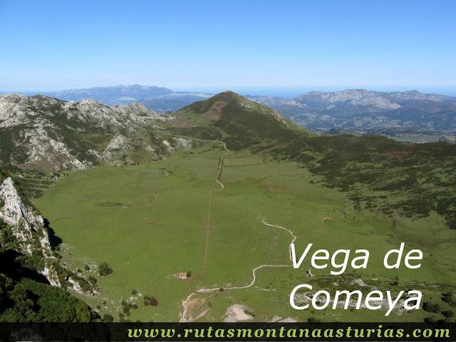 Ruta Lagos de Covadonga PR PNPE-2: Vega Comeya desde el MIrador del Príncipe