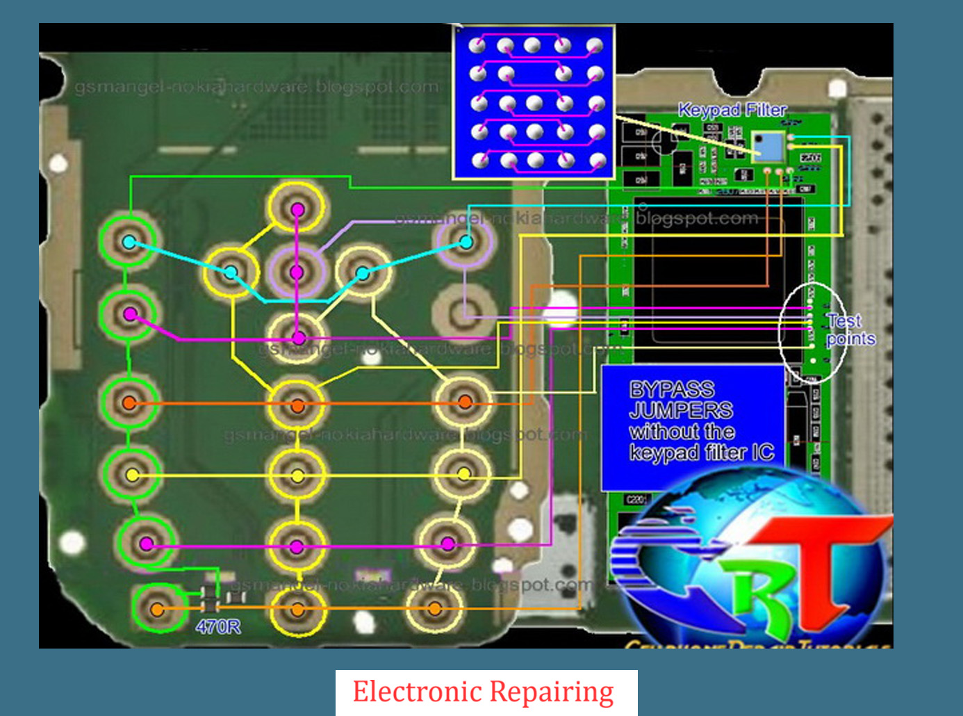 Mobile Repairing Solutions Nokia 6125 Keypad Ic Jumper – Fondos de