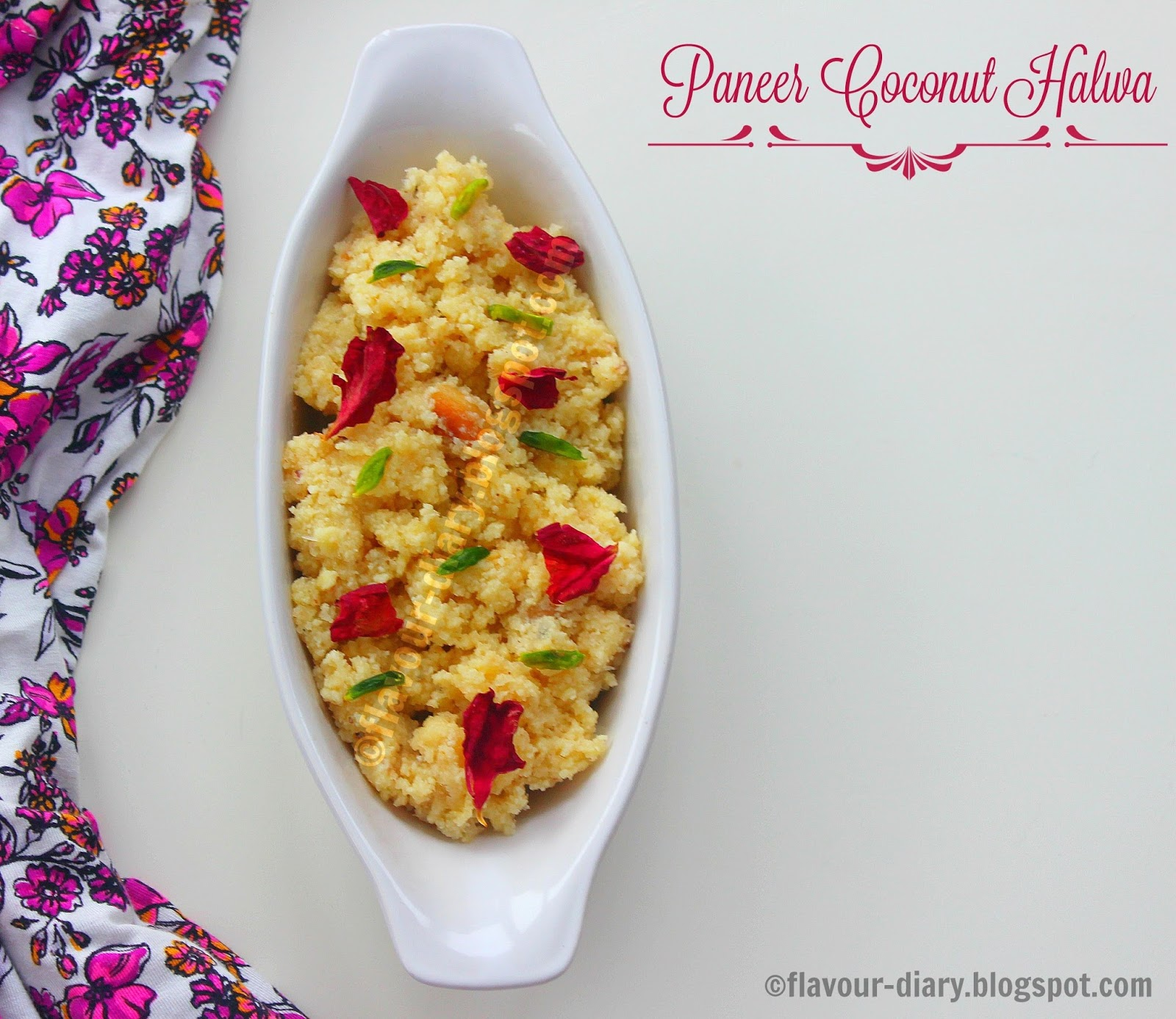 paneer coconut halwa recipes flavour diary