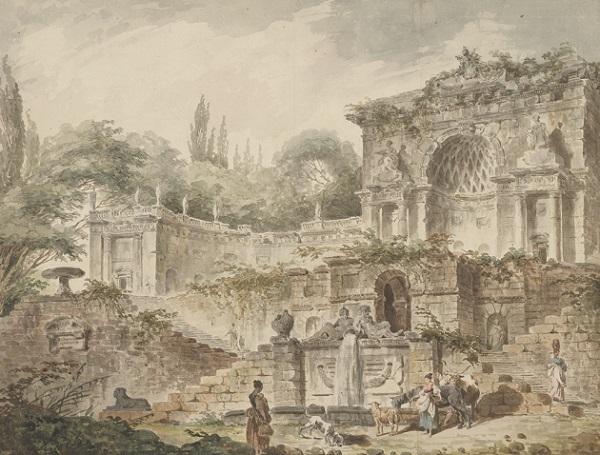 Hubert Robert, Villa Saccheti, 1760.