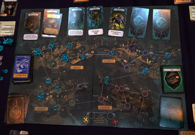 Pandemic: Reign of Cthulhu game board