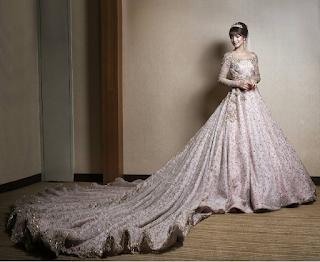 1baju kahwin amyra rosli tema princess fairy tale