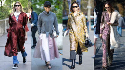 On the street at Paris Fashion Week. Photos: Emily Malan/Fashionisa (1), Chiara Marina Grioni/Fashionista (3)