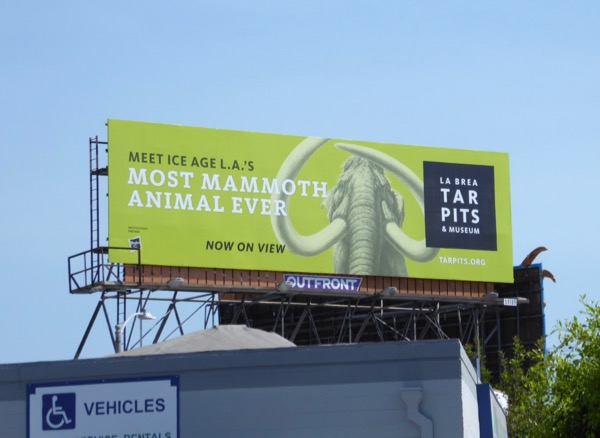 La Brea Tar Pits Mammoth billboard