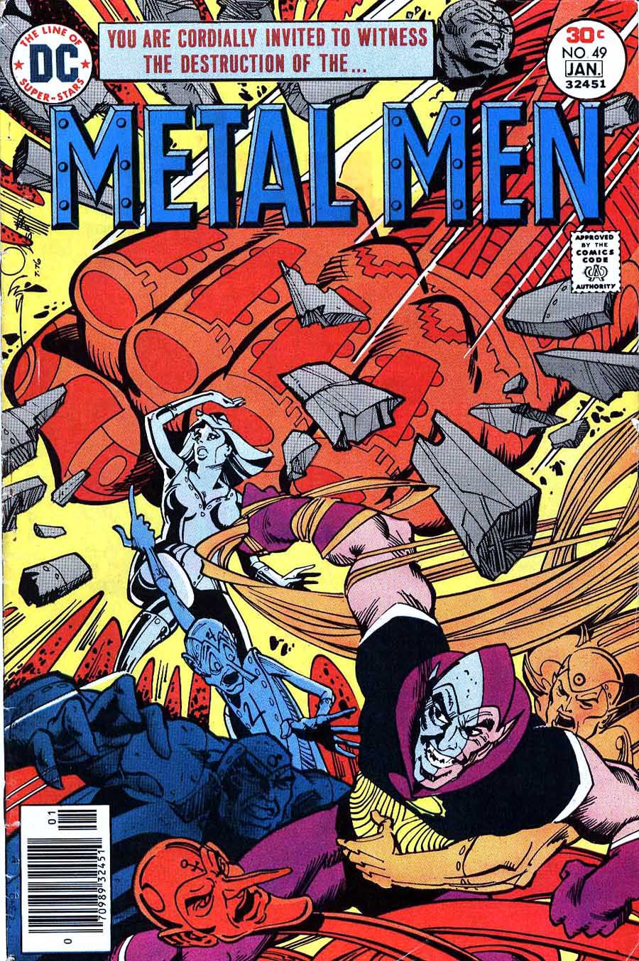 Metal Men v1 #49 dc 1970s bronze age comic book cover art by Walt Simonson