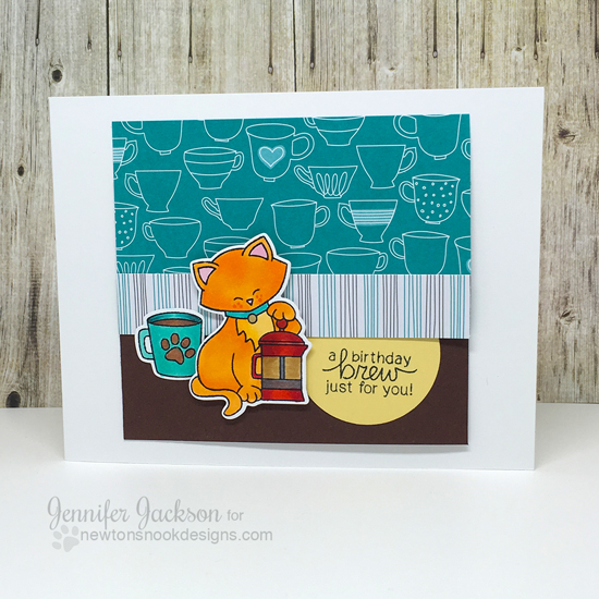 Summer Coffee Lovers Blog Hop |  Newton Loves Coffee Stamp set by Newton's Nook Designs #newtonsnook