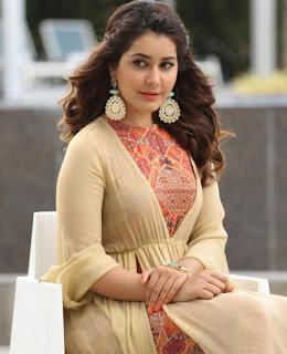 Raashi Khanna in lovely Anarkali Gown Stunning Beauty