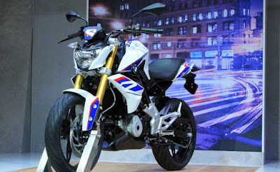 BMW G310R blue side angle HD Images