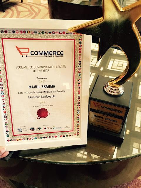 mjunction's Mahul Brahma won ecommerce award