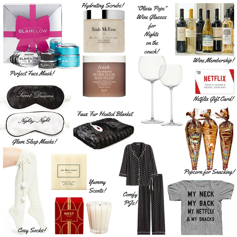 fashion blogger, christmas gift guides, holiday gift guide, what to buy for homebody, eye masks, glam glow, wine membership, netflix & my snacks, nest candle, dallas blogger, fashion blogger, what to buy girlfriend, faux fur blanket