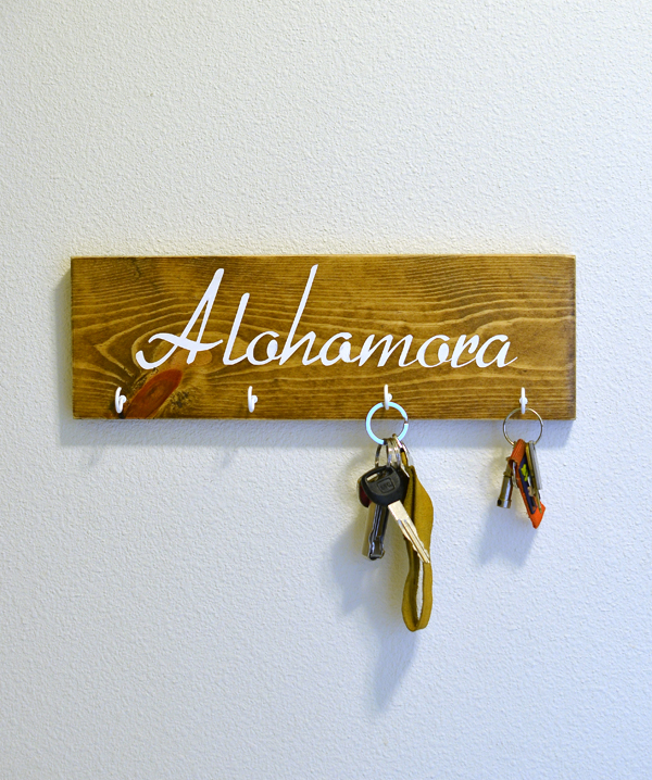 diy modern key rack harry potter quote