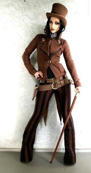 ste&unk clothing for women ...  sc 1 st  DevilInspired Ste&unk Dresses & DevilInspired Steampunk Dresses: Fashion Steampunk Coat for Women