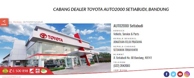 Miliki Mobil Toyota Impian Anda Hanya di Dealer Auto2000 Setiabudi Bandung