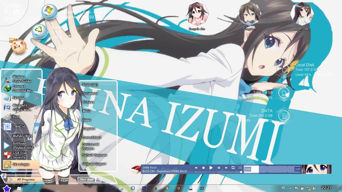 Theme Win 7 Izumi Reina by Deej 1
