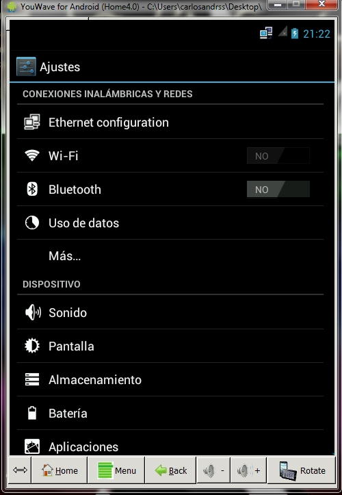 YouWave 4.0.1 Emulador de Android para Windows Español
