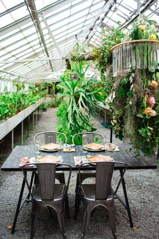 Boda de inspiración bohemia en un invernadero chicanddeco blog