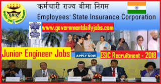 ESIC JE Recruitment 2018 Apply online for 79 vacancies