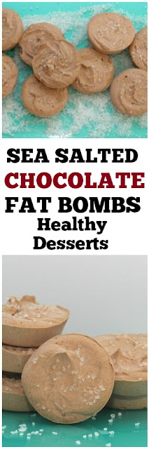 Sea Salted Chocolate Fat Bomb Recipe #seasalted #salted #chocolate #fatbombs #healthysnacks #snacks #desserts #healthydesserts