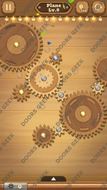 Fix it: Gear Puzzle [Plane] Level 8 Solution, Cheats, Walkthrough for Android, iPhone, iPad and iPod