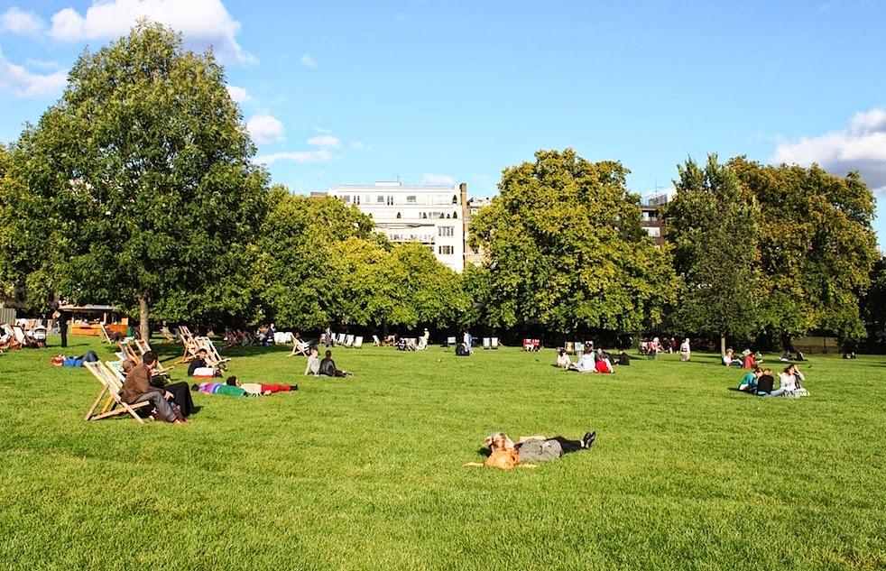 Parque Green Park em Londres
