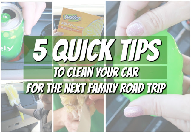 5 Quick Tips to Clean Your Car for the Next Family Road Trip