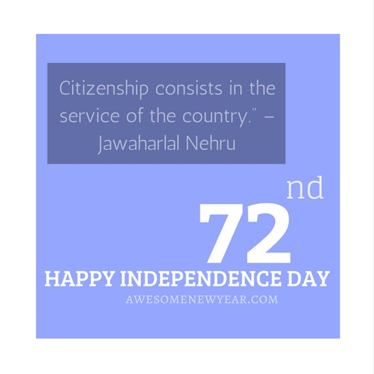Happy independence day 2018 Quotes